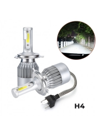 C6 Pair H4 LED Headlight Waterproof..