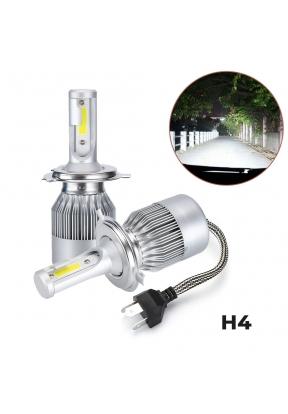 C6 Pair H4 LED Headlight Waterproof..