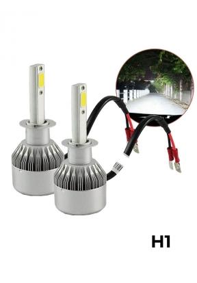C6 Pair H1 LED Headlight Waterproof..