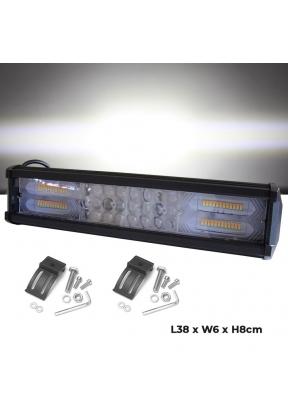 216W LED Light Bar Strip White & Ye..