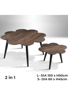 2-in-1 Coffee Table (D100 x H50)cm ..
