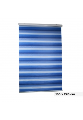 Duo Roller Blind - Blue | (150 x 22..