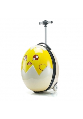 Chick Egg Travel Suitcase with 2 Il..
