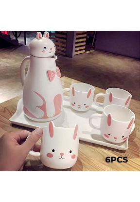 Rabbit Ceramic Tea Set 6 Pieces: Te..