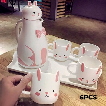 Rabbit Ceramic Tea Set 6 Pieces: Te..