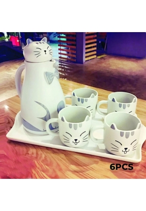 Kitten Ceramic Tea Set 6 Pieces: Te..