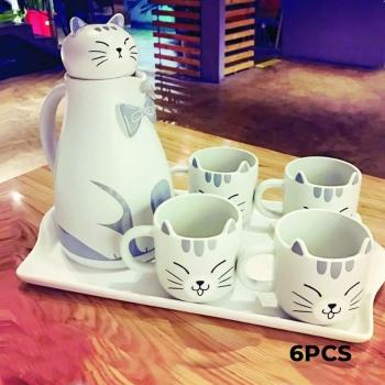 Kitten Ceramic Tea Set 6 Pieces: Te..