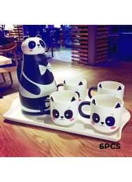 Panda Ceramic Tea Set 6 Pieces: Tea..