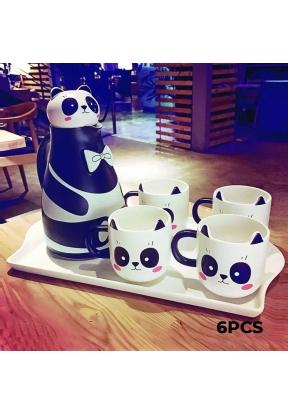 Panda Ceramic Tea Set 6 Pieces: Tea..