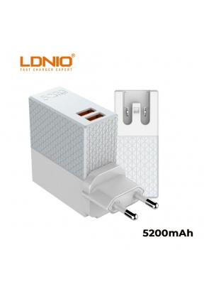 LDNIO PA606 Dual USB 2.1A Max 2-IN-..