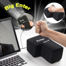 Big Enter Key Throw Pillows with US..