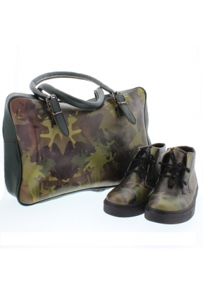 Streetfly Olive Women's Leather Sho..
