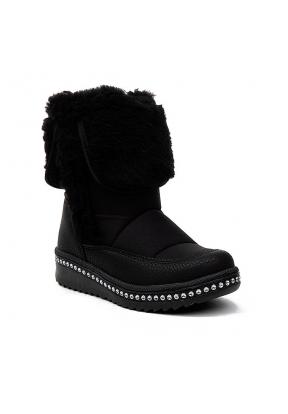 Lepetit 65 Black & Furry Girl's Boo..