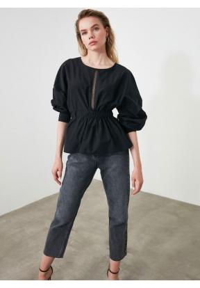 TRENDYOLMİLLA Black Lace Detailed B..