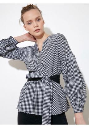 TRENDYOLMİLLA Black Checkered Tie D..