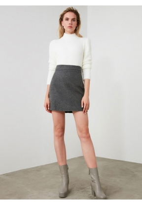 TRENDYOLMİLLA Anthracite Mini Skirt..
