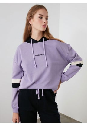 TRENDYOLMİLLA Lilac Hooded Sports S..