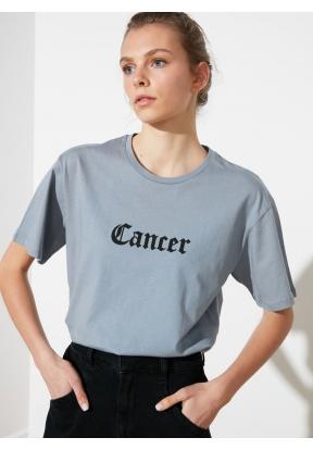 TRENDYOLMILLA Gray Cancer Printed B..