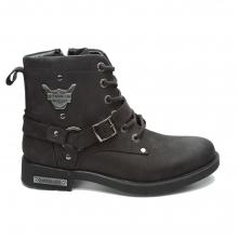 Hammer Jack Pearl Leather Black Wom..