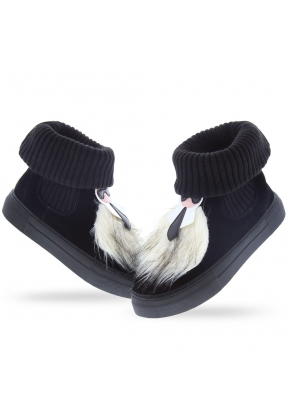 Seniorah Black White Women's Boots..
