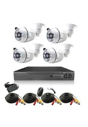 Full HD 4 Channel DVR Kit With Four..