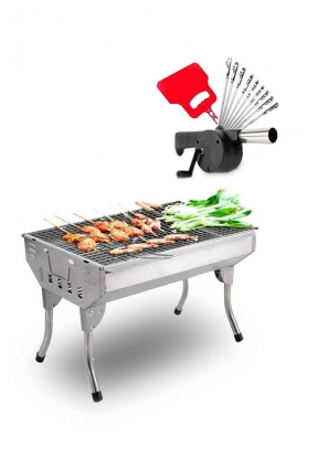Barbecue Set: BBQ Flame Blower Heat..