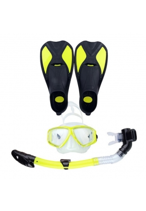 Rhombus Pattern Snorkeling Kit with..