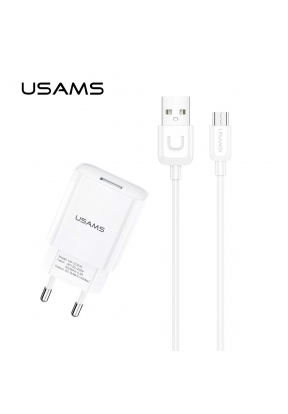 USAMS T21 Travel Charger Set 2.1A F..