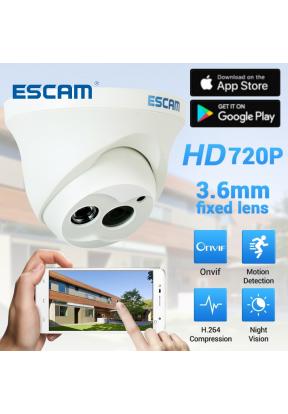 ESCAM QD100 720P 1MP 10m Mini Dome ..