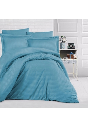 6 Pieces Striped Satin Double Quilt..