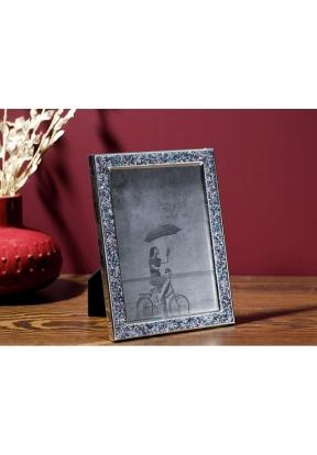 Glossy Metal Frame 15 x 20 Cm - Gre..