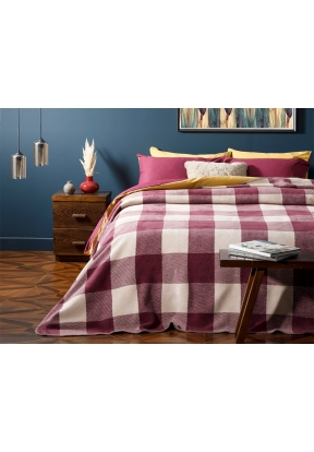 Plaid Cotton Single Blanket 150 x 2..