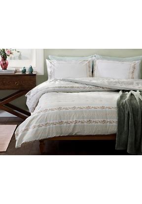 2 Pieces Floral Stripe Cotton Singl..