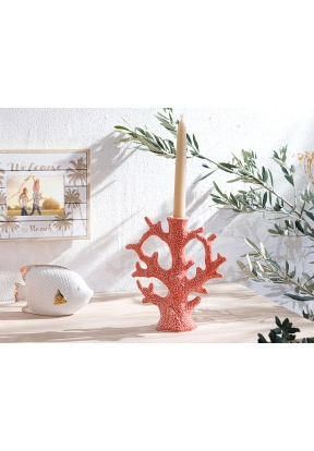 Coral Candlestick 19 x 7 x 20,5 Cm ..
