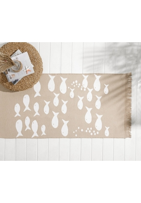 Fish Wave Woven Rug 60x100 Cm - Bei..