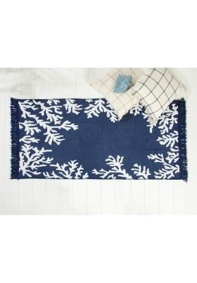 Coral Woven Rug 120x180 Cm - Navy B..