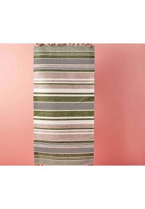 Line Cotton Rug 120 x 180 cm - Gree..
