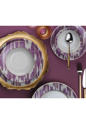 Porcelain iRON 24 Pieces Dinner Set..